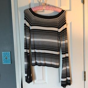 Charlotte Russe Black & white sweater